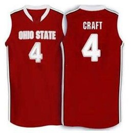 Wholesale Craft Numbers - Cheap custom #4 Aaron Craft Ohio State Buckeyes basketball Jersey white red Embroidery Stitched Custom any Number and name Jerseys