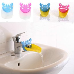 Wholesale Bathroom Hand Sink - Fashion Children Baby Cartoon Crab Bathroom Kitchen Silicone Water Tap Sink Faucet Extender Hand Washing Device Toddler Gift
