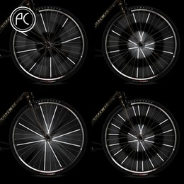 Wholesale Sticker Security - PCycling Bicycle Security Wheel Rim Decal Tape Safe Warning Sticker Reflective Stickers Reflector Bike Cycling Accessories