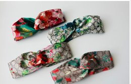 Wholesale women christmas stocking - in stock Designer 100% Silk Cross Headband Fashion Luxury Brand Elastic Hair bands For Women Girl Retro Floral Bird Turban Headwraps Gifts