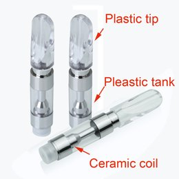 Wholesale Disposable Mouth - Hot selling M6T05 M6T10 .5ml 1ml Disposable cartridge ceramic Co2 atomizer vape cartridges for 510 battery A4 G2 with press on mouth