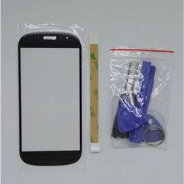 2019 strumento pass Nuovo per Yotaphone 2 YD201 YD206 Smart phone Sostituzione Touch Screen capacitivo Pannello frontale nero + Nastro adeisivo