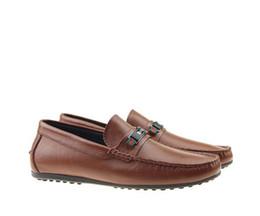 zapatos hombre cuero mocasín casual Rebajas Zapatos de cuero casuales de los hombres de la marca famosa estilo de la raya zapatillas suaves zapatos Mocassin Zapatos para hombre 40-46