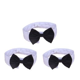 Wholesale Bow Tie Tops - Cotton Bowtie Collar Cute Adjustable Dog Cat Tie Durable Resuable Eco Friendly Puppy Cravat Top Quality 4 71jz B