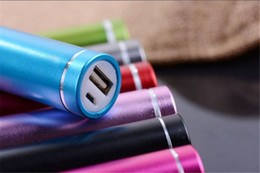 Venta 3000mah Cilíndrico USB Power Bank Carcasa Cargador rápido de aluminio universal de carga 18650 Batería para todo el teléfono celular desde fabricantes