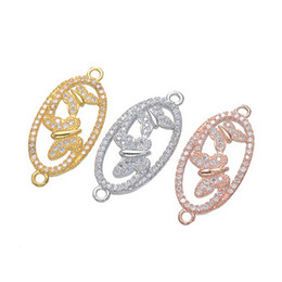 Wholesale New Gold Finds - Wholesale Handmade DIY Jewelry Accessories 2018 New Fashion Zircon Necklace Bracelet Micro Pave Butterfly Loop Connectors Charms Finding Fit