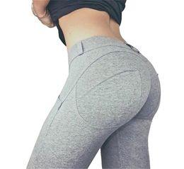 2019 pantaloni bianchi yoga all'ingrosso Vita bassa di alta qualità Push Up Leggings elastici casual Fitness per le donne Pantaloni sexy Bodybuilding Abbigliamento Leggin