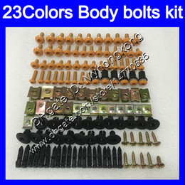 Wholesale 99 Yamaha R1 Plastics - Fairing bolts full screw kit For YAMAHA YZFR1 98 99 YZF R1 YZF 1000 YZF-1000 YZF1000 YZF-R1 1998 1999 Body Nuts screws nut bolt kit 23Colors