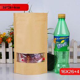 2019 gros sacs transparents et refermables 16 * 26cm sac de fermeture à glissière auto-scellant sac de fruits secs avec de la fenêtre en PVC transparent en gros tenir la poche refermable gros sacs transparents et refermables pas cher