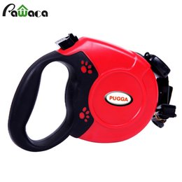 Wholesale Retractable Dog Leash Large - Led Dog Leash Rope Nylon Belt Retractable Automatic Extending Pet Supplies Running Walking Leads for Medium Large Dogs 5m 8m