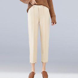 7ca799595d pantalones de lana mujer Rebajas Nueva Moda de Otoño e Invierno Gruesos  Pantalones de Lana Cálidos