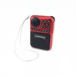Wholesale Dance Turning - radio mini Portable speakers outdoor Dancing speaker tf card fm radio Music Surround MP3 player old manC-857