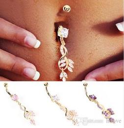 Temizle Kristal Çiçek Belly Buttoning Kadınlar Seksi Vücut Piercing Takı Belly Button Yüzük Yaprak Belly Button Piercing Takı nereden