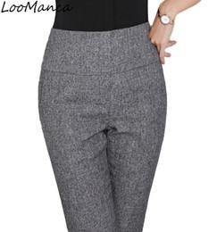 pantalon de costume noir convient aux femmes Promotion Mode femmes pantalons, plus la taille entreprise formelle OL printemps automne 2018