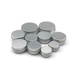 embalagem de cosméticos de alumínio Desconto 5 10 15 20 30 ml Vazio De Alumínio Cosméticos Recipientes Pote Lip Balm Jar Estanho Para Creme Pomada Mão Creme Embalagem Caixa