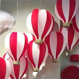 Wholesale marketing sale - Silk Network Hot Air Balloon Decorate Party Prop Display Window Hanging Accessories Market Handmade Foldable Hot Sale 55bt3 V