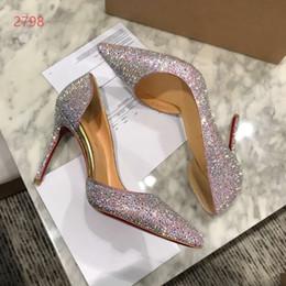 Argentina 2018 moda popular de lujo diseñador de la marca de tacón alto zapatos de cuero suave bombas de la boda vestido de fiesta zapatos elegantes zapatos bling venta caliente Suministro