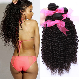 Wholesale Curly Machine Price - 8A Brazilian Curly Virgin Human Hair 3 Bundles Unprocessed Deep Curly Human Hair Weave Weft Wet and Wavy Hair Bundles Deals Wholesale Price