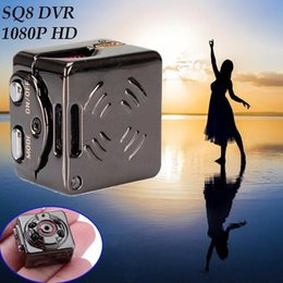 Wholesale Ir Camera Auto - SQ8 1080P Sport DV Mini Camera 1080P Car DVR Dash Auto Recorder Cam Tiny Camcorder 12MP IR Hot Support TF Card