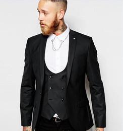 Tuxedos de marié de charbon de bois de pic le revers Centre Vent Homme Costume de mariage Beau hommes dîner d'affaires Blazer d'affaires (veste + pantalon + cravate + gilet) ? partir de fabricateur
