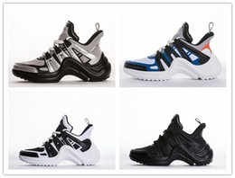 Wholesale Fashion Show Fall - 2018 Brand Mens Womens ArchLight Sneaker Leather Trainers for Men Women Triple S Running Shoes Fashion Casual Outdoor Boots Fashion Show