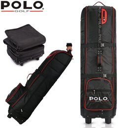 Wholesale Rod Package - Brand Polo Genuine Golf Bag Pulley Waterproof Travel Folding Golf Aviation Package Rod Thickened Outsourcing Plane Tug Strong