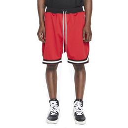 Été élastique en Ligne-kanye west peur de dieu rétro shorts mode hommes été sportswear décontracté Élastique lâche hip jogging Pantalon de survêtement pantalon court