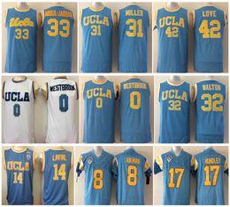 aa530b7d2 Hotselling UCLA Bruins College Men Basketball Jerseys 0 Russell Westbrook 14  Zach LaVine 32 Bill Walton 33 Jabbar Blue White