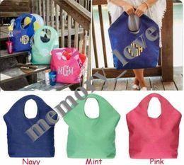 Canada Personnalisé !!!! Sac de plage en jute Grand sac shopping pour femmes de grandes tailles Offre