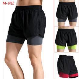 Wholesale tights shorts for men - Summer mens Short for Workout Fashion Casual Active Short tight-fitting stretch yoga pants training basketball quick-drying running men Fa