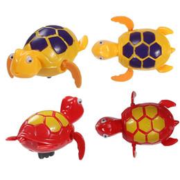 Забавные игрушки плавание цепи Черепаха детские игрушки для ванной цепи на Дискус рыбий хвост перемещение ChildrenTake игрушки ванны от