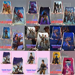 Wholesale kids wall canvas - 35*50cm Fortnite Cosplay Handbags Teenager Canvas Bag Cartoon Print Bags Kids Gift Fortnite Shopping Bags T1I710