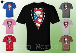 Camisas Dos Homens Da Bandeira Americana E Vermelho Bow Tie Imagem Design Bonito Tee Roupas supplier images bow ties de Fornecedores de gravatas das imagens