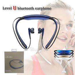 Wholesale mini headset microphone - New arrival EO-BG920 Level U earphone mini neckband v4.2 csr chip music headset with microphone hifi handfree sports inear earplug