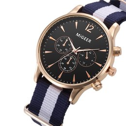 Wholesale Mens Canvas Watches - wholesale unsex mens women simple design canvas sport business watch 2018 new ladies fashion casual dress quartz wrist watches