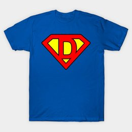 Wholesale Superman T - Superman letter D T-Shirt