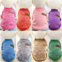 Wholesale Pet Apparel For Large Dogs - Dog Clothes Pet Supplies Small Dog Apparel Cotton Pet Clothing Sweater for Pet Clothes Winter Playsuit Dog Supplies 15 Colors SF231