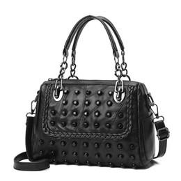 8deebc9586 red rock bags 2019 - Rivet Women Leather Handbags Chain Woman Bags Bolsos  Tote Bag Ladies