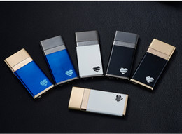 Wholesale Slim Lighters - lighter USB charging Slim windproof Double cigarette Two hours Available two hundred times Secured seven seconds off electric lighter 2018