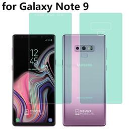 """Rasguño de pantalla galaxy nota online-Protector de pantalla de cobertura de todo el cuerpo 4D HD anti- rasguño suave para Galaxy Note 9 6.4 """"AUTO película de hidrogel fijo"""