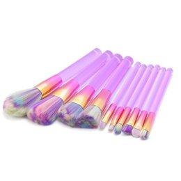 Canada Acrylique Transparent 10 pcs / set brosses de maquillage définit blush fard à paupières poudre fondation Cosmétique Make Tool Kits DHL EMS D10204 Offre