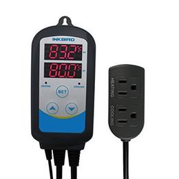 Chronomètre en Ligne-Thermostats pré-câblés de sortie de contrôleur de température d'humidité de Digital de double étape avec la minuterie pour des contrôleurs de germination de graine de Brewing