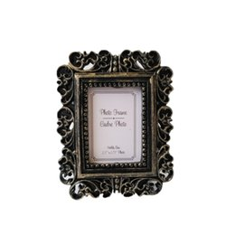 Wholesale framed flower pictures - Flower Photo Frame Wedding Home Decor Desktop Bronze Design Picture Frame