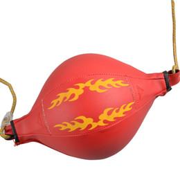 Palla di corda online-Inflazione Fitness Sport Pallone da boxe PU Materiale allenamento Adulti Punching Balls resistente all'usura Stretch Rope Both Ends 15qc ii
