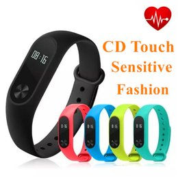 Wholesale Oled Display Bracelet - M2 Plus Smart Band with CD Touch Fitness tracker Heart Rate Monitor Waterproof Smart Bracelet Pedometer With OLED Display for IOS Android