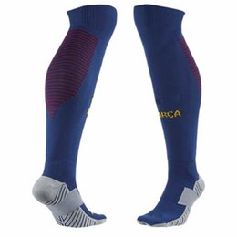 Wholesale Blue Stocking Club - Professional Club Football Socks Thick Knee High Training Long Stocking Skiing Warm Sports Socks Kids and Adult Soccer Socks
