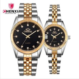 Wholesale Brought Round - CHENXI, dawn watch cross-border explosion models couple stainless steel quartz watch brand factory wholesale 004A gold send friends  bring c