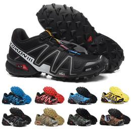 Argentina 2018 Salomon Peedcross 3 Trail Los mejores zapatos para correr al aire libre para hombres de calidad Un calzado deportivo Moda Zapatillas de deporte para caminar al aire libre US7-US12.5 cheap cheap trail running shoes Suministro