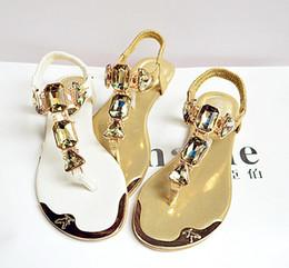 Wholesale 2018 New Summer Shoes Women Fashion Flats Sandals Plus Size Rhinestone  Flip Flops Slippers women sandal gladiator sandals women ab8a70a89b92