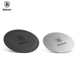 Wholesale Used Car Stickers - BASEUS Brand Magnetic Bracket Iron Set For Car Phone Holder 2pcs Metal & Leather Sheets Plate Sticker Use For Magnet Car Holder